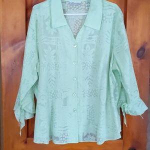 Soft green ladies blouse